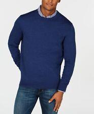 $340 Club Room Men'S Blue Long-Sleeve Pullover Merino Wool Sweatshirt Tee Size S