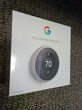 Brand New Sealed Nest T3007US 3rd Generation Learning Thermostat Stainless Steel