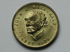 Canada Prime Minister John A MacDonald 1867 1878 Goldine-Zinc Medal Token/Coin
