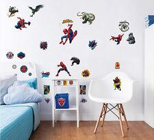 Wandsticker Kinderzimmer Spiderman Marvel Wandtattoo Junge Wandaufkleber Spinne