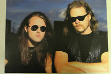 METALLICA Full Page Pinup magazine clipping James & Lars