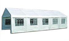 KMH® Partyzelt 4x8 Festzelt 8 x 4m Pavillon Bierzelt Gartenzelt Vereinszelt Zelt