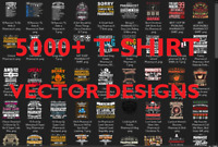 5000+ High Quality editable Vector T-shirt Designs +9K Bouns
