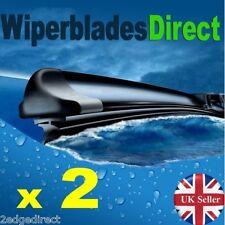 """Parabrisas ventana frontal de borde 2 Aero Flat Wiper Blades 24"""" 18"""" par de actualización"""