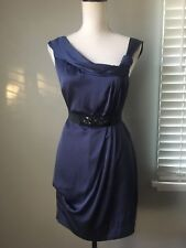 $248 BCBG MaxAzria South Pacific Blue Purple Cocktail Dress 10 M Medium L Large