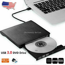 USB 3.0 External DVD RW CD Writer Drive Burner Reader Player For PC Laptop