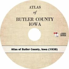 1930 Atlas of Butler County, Iowa - Real Estate Maps Book on CD