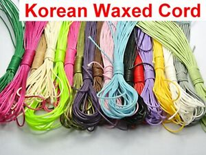 200 Merters Mixed Color Korean Waxed Cord String Thread 1mm for Necklace