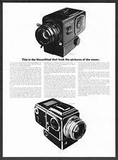 1969 Hasselblad 500 Space & Earth EL Moon Camera photo vintage promo print ad