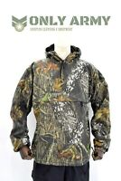 Mossy Oak Real Tree Camo Fur Lined Winter Anorak Smock Buffalo Top Hooded Jacket