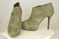 Zara Woman Black Gray Zip Casual Dress Fashion Stiletto Ankle Boots Size 9