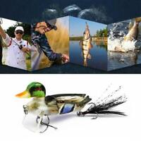 7 cm 3D Fishing Lures Duck Baits with Hooks Multi Jointed Hard Bait Bass 2019