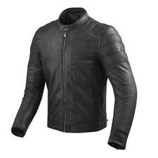 Giacca pelle moto vintage scrambler Rev'it Revit Stewart black leather jacket