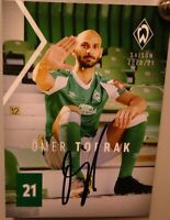 SV Werder Bremen + Original Autogrammkarte 2020/2021 + Ömer Toprak + AK2021044
