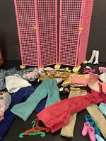 Barbie Accessories Lot, Vintage Pink Room Divider Ken Outfit, Shoes Dress SH7 L1