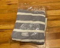 Causebox Imani Collective Woven Throw Blanket Slate Tassels Winter Brand New