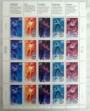 US SCOTT 2807 11 PANE OF 20 OLYMPIC SPORTS STAMPS 29 CENT FACE MNH OG FVF 29c