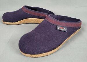 Stegmann Navy Blue Woolfelt Comfort Clogs Womens Size 7.5
