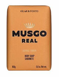Musgo Real Orange Amber Men's Bath Body Face Soap 160g For Sensitive Skin