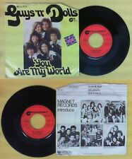 LP 45 7'' GUYS N DOLLS You are my world Just loving you 1977 MAGNET no cd mc dvd