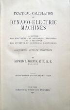 1902 – WIENER, PRACTICAL CALCULATION OF DYNAMO-ELECTRIC MACHINES – FISICA MOTORI