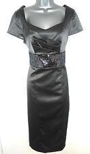 BNWT Berkertex  Metallic Embellished Satin Shift Evening Occasion Dress Size 12
