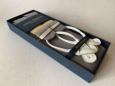 Brand New Albert Thurston Men's Braces - Grey Boxcloth - Size - Extra Large