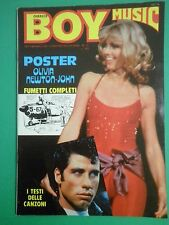 D BOY MUSIC  N 15 Raro Aprile 1979 con Poster Olivia Newton-John