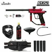 Maddog Azodin Kaos 2 Silver Paintball Gun Marker Package Red