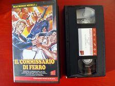 VHS.09) IL COMMISSARIO DI FERRO - AVOFILM (MAURIZIO MERLI)