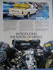 """1981 Toyota Diesel Ad 8.5 x 10.5 """" Toyota Pick Up Truck -Original Print Ad"""