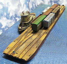 64' 3 TRACK CARFLOAT EXTENSION HO Model Railroad Waterline Hull Resin Kit FR157