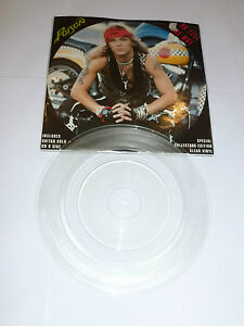 """POISON - So Tell Me Why - 1991 UK 7"""" single pressed on CLEAR VINY 7"""" Single"""