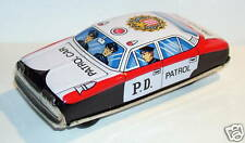 LUCKY TOY JAPAN JOUET TOLE PATROL CAR PD POLICE 1960