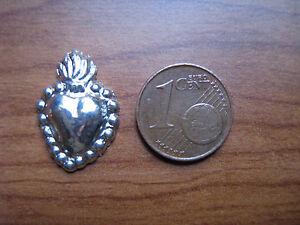 EX VOTO CUORE PICCOLO in argento 800 h 2cm