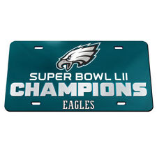 NEW EAGLES SUPER BOWL 52 CHAMPIONS CRYSTAL MIRRORED CAR License Plate USA MADE