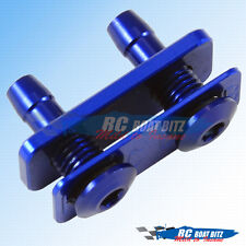 RC Boat Dual water outlet for small hose blue 521B41-B