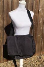 Men's Coach Transatlantic Messenger Bag Nylon Black Leather F70443