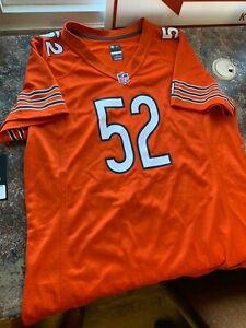 "Khalil Mack #52 Chicago Bears ""ON THE FIELD"" Jersey Orange"
