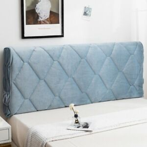 Headboard Elastic Cover Pure Color Bed Head Slipcover Bedside Cover Soft Leather