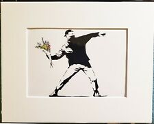 Banksy Print - Flower Thrower - Street Art Graffiti Stencil 5 x 7
