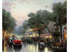CARMEL DOLORES STREET SNCNV 20X24 THOMAS KINKADE*REDUCED PRICE HOLIDAY SPECIAL