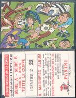 Figurina-Sticker n 59B CALCIATORI PANINI 1971-72 Rec ROVERETO SCUDETTO