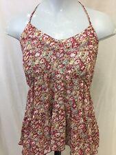Lucie Rose Women's Floral Halter Neck Sleeveless boho festival Shirt Medium G1