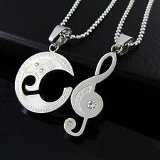 Collana per coppia AMORE Musicali Chiave di violino Acciaio inox 2