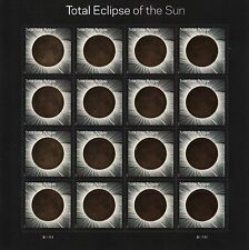 TOTAL ECLIPSE OF THE SUN  SOLAR MOON STAMP SHEET -- USA FOREVER 2017 (AUGUST 21,