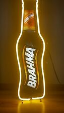 (Vtg) Brahma Beer Neon Light Up Sign Bar Pub Game Room Rio De Janeiro Brazil Mib