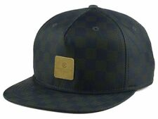 Crooks & Castle Checks Leather Patch Lightweight Adjustable Snapback Cap Hat