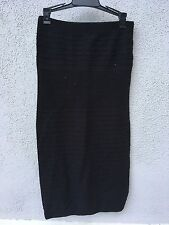 $50 New Malibu Sugar Brand Pull Up Fitted Solid Black Dress Girls 7-14