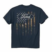 FORD CAMO STRIPED AMERICAN ACCENT FLAG USA ARMY MILITARY TRUCK T TEE SHIRT M-3XL
